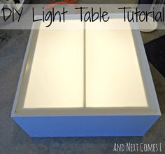 DIY light table tutorial (made from an old entertainment center) from And Next Comes L