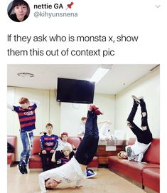 How is this out of context? Monsta X