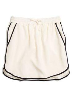 Feeling sporty? Madewell silk mini skirt