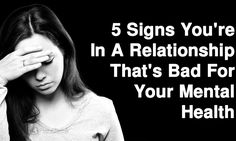 Any length of time that our mental health is suffering is too long, especially when a relationship is the cause...