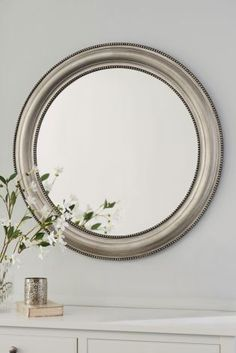 Bathroom Mirrors Ireland round beaded mirror | mirrors | pinterest | uk online, living
