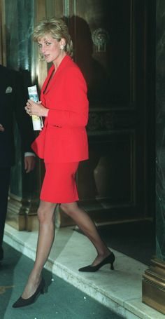Diana Princess of Wales in red