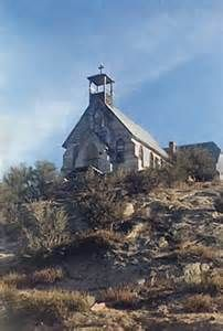 Church, Ghost Town, Silver City, Idaho...been there when we lived in Idaho. The last 12-15 miles of narrow dirt roads around the mountain is a nightmare...especially when you realize you have to go back the same way and you pray you don't encounter more RVs.