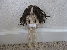 Crochet Fairy Doll free pattern by Becca Lee. This could be decorated in many ways.