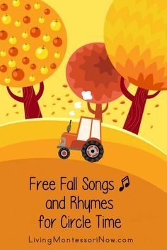 Lots of free non-holiday, fall songs, rhymes, and fingerplays perfect for classroom or home - Living Montessori Now Teaching Themes, Preschool Themes, Autumn Activities For Kids, Toddler Activities, Character Education Videos, Music Education, Scarecrow Song, Apple Song, Thanksgiving Songs