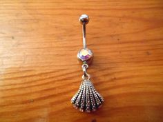 Seashell Belly Button Ring. $10.00, via Etsy.