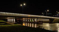 Dutch bridge at night