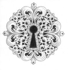 Do this as a tattoo except make the keyhole shaped like the letter J for Jacob.