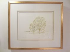 Anita Klebanoff Winter Trees II Contemporary Drawing Art