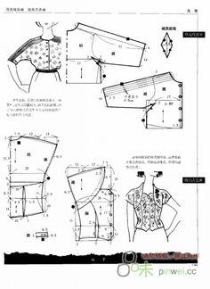 Free Vintage Blouses Sewing Draft Pattern
