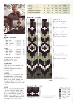 Three Versions of Riddari - Her Crochet Fair Isle Knitting Patterns, Fair Isle Pattern, Knitting Charts, Knitting Designs, Knitting Stitches, Knit Patterns, Free Knitting, Knitting Projects, Baby Knitting