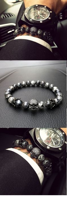 60% Off This Mens Fashion Bracelet While Stock Lasts At : https://luxaccessories.co/collections/mens-bracelets/products/the-professional #MensFashionHairstyles