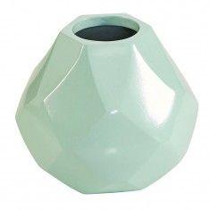 "Florence Broadhurst Diamond Short Vase - Mint 6.7""w x 6.3"" h"