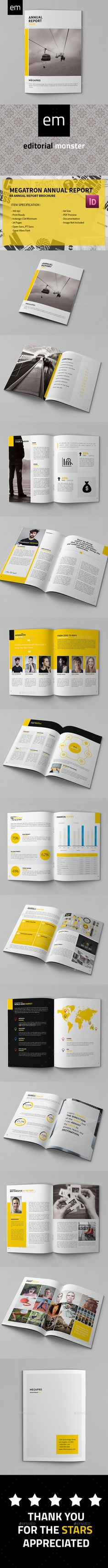 Megatron - Annual Report Template InDesign INDD. Download here: http://graphicriver.net/item/megatron-annual-report/14603339?ref=ksioks