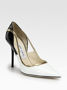 Jimmy Choo Vero Patent & Metallic Leather Pumps