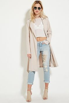 The Forever 21 cotton-blend trench coat is adorable and affordable!