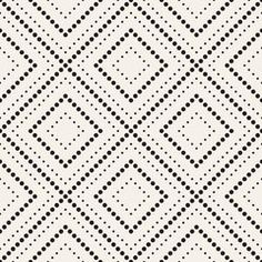 Vector seamless pattern. Modern stylish texture. Repeating geometric tiles with dotted rhombus by Curly Pat, via ShutterStock