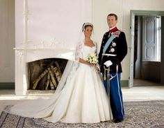 Official wedding portrait of Prince Joachim of Denmark and ms. Marie Cavallier, May 24, 2008