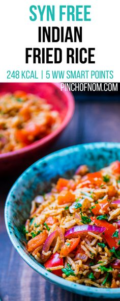 Syn Free Indian Fried Rice Pinch Of Nom Slimming World Recipes 28 kcal Syn Free 5 Weight Watchers Smart Points Curry Recipes, Rice Recipes, Indian Food Recipes, New Recipes, Cooking Recipes, Healthy Recipes, Recipes Dinner, Soup Recipes, Recipies