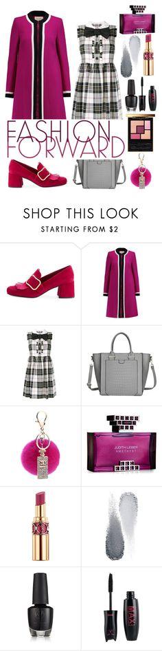 """Fashion Forward"" by eversmile ❤ liked on Polyvore featuring Prada, Goat, Miu Miu, Judith Leiber, Yves Saint Laurent and Clé de Peau Beauté"