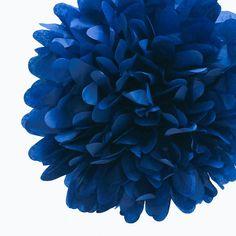 Navy Blue Tissue Pom Pom 4 inch by PartyGarden on Etsy, $1.50