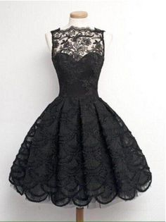 Black A line lace short prom dress, lace homecoming dress – trendty Dresses For Teens, Trendy Dresses, Nice Dresses, Casual Dresses, Short Dresses, Sexy Dresses, Cheap Dresses, Elegant Dresses, Floral Dresses