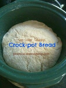 Crock-pot Homemade (Sourdough) Bread Recipe - Practical Stewardship I tried this with GF bread dough and it worked great! My bread actually doubled in size for the first time! Crock Pot Brot, Crock Pot Slow Cooker, Crock Pot Cooking, Slow Cooker Recipes, Cooking Recipes, Cooking Bacon, Sourdough Recipes, Sourdough Bread, Pan Relleno