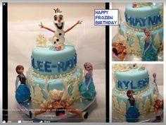 Frozen Birthday, Cake Decorating, Cakes, Happy, Ser Feliz, Pastries, Torte, Happiness, Cookies