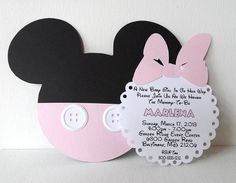 Deb's Party Designs - Pink Minnie Baby Shower Invite with Insert., $1.95 (http://www.debspartydesigns.com/pink-minnie-baby-shower-invite-with-insert/)