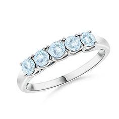 Angara Half Eternity Five Stone Ruby Wedding Band 7hXgTwCJDs