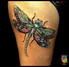 dragonfly tattoo by ZsuzsInk