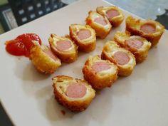 Roti Goreng Sosis Fun Cooking, Cooking Recipes, Bread Recipes, Cake Recipes, Kids Menu, Recipe Steps, Toddler Meals, Toddler Food, Indonesian Food
