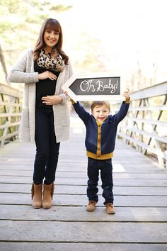 Photo from Hannan Family - Fall collection by ABR Photography & Design. Baby #2 photo announcement