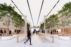 Apple store in central London gets sleek, leafy revamp - Curbed