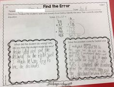 This post breaks down why you should have your students analyzing math errors and how you can easily implement this into your classroom {freebie included}.