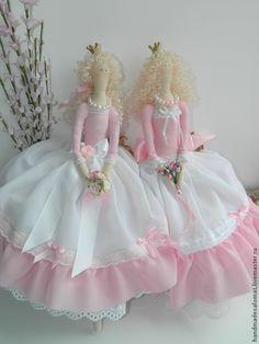 Купить Принцесса Эйприл - бледно-розовый, принцесса, принцесса тильда, тильда, кукла, кукла Тильда ♡