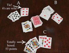 """How to play the card game """"Tic"""" and other camping favorites. - The V Spot Family Card Games, Fun Card Games, Playing Card Games, V Games, Dice Games, Games For Kids, Games To Play, Kids Playing, Board Games"""