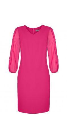 SUKIENKI WIZYTOWE Cold Shoulder Dress, Dresses, Fashion, Vestidos, Moda, Fashion Styles, Dress, Fashion Illustrations, Gown