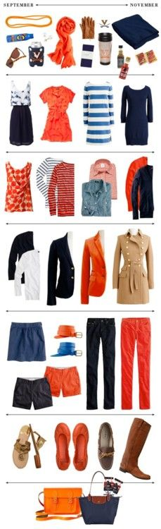 Provided you swapped the V for an F and the navy for royal  this would be the ESESNTIAL closet for September-November ;)