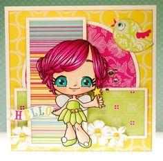 copic colored card