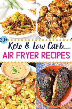 Are you looking for some keto air fryer recipes to whip up for friends and family? Want to switch up your meal plan with quick beef, chicken, seafood or even meatless dishes? This is a collection of keto-friendly Ninja Foodi air fryer recipes that will he