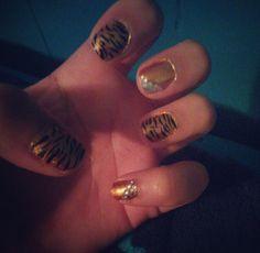 Weird tiger stripes.