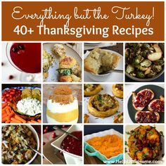 Everything but the Turkey! 40+ Thanksgiving Recipes | Hello Little Home