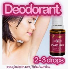Young Living Purification Essential Oil for deodorant.