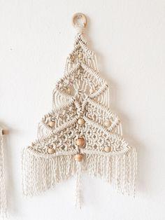 macrame Christmas tree medium by elizabethmctague on Etsy