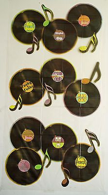 """70s or 80s Party Decoration - Large Records or LPs Scene Setter - 33"""" x 65""""   eBay"""