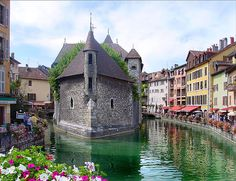 The beautiful French town of Annecy