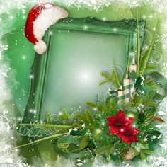 Christmas is coming! Click to add your own photo to this frame. #green #Christmas #photo #frame
