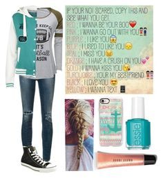 """""""Tell me you guys!!!"""" by bubble-loves-you ❤ liked on Polyvore featuring Citizens of Humanity, Converse, Casetify, Bobbi Brown Cosmetics and Essie"""