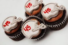 Perfect Football Helmet Cupcake Toppers. #OSUCupcakes
